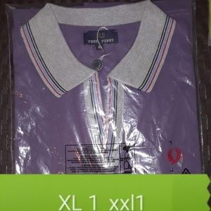 Fred Perry Men Polo Shirt Purple NWT